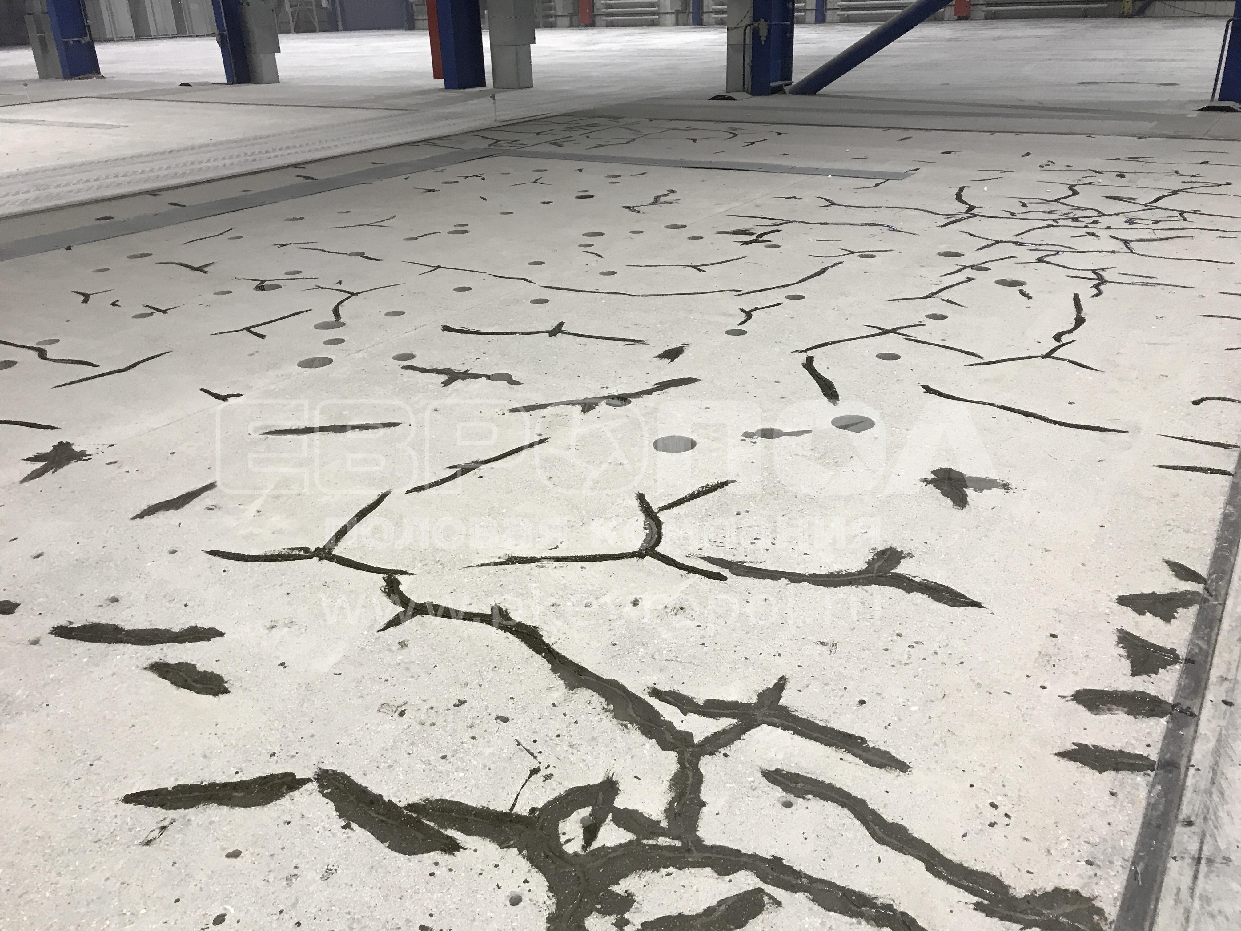 Ремонт бетонных полов в промышленных помещениях