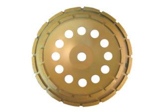 Чашка алмазная двухрядная для шлифовки бетона, мозаики STRONG 125*22,23